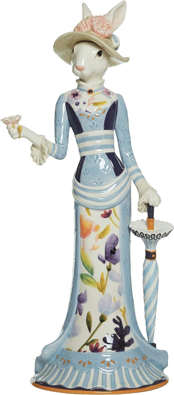 Fitz and Floyd Floral Splash Female Rabbit Figurine, 20-inch, Assorted