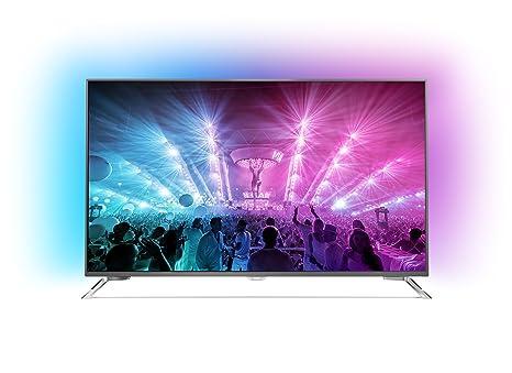 Philips 65PUS7101/12 165,1 cm (65 Zoll) Ultraflacher Android 4K-Fernseher mit 3-seitigem Ambilight und PixelPrecise Ultra HD