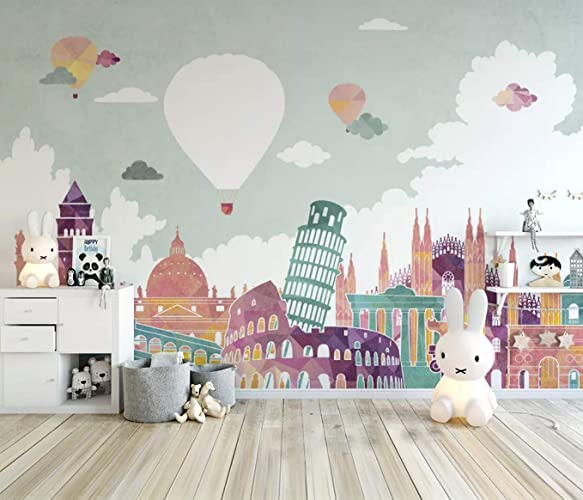 Amazoncom Murwall Kids Wallpaper Historical Places Wall Mural Hot