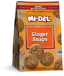 Mi-Del Swedish Style Cookies, Ginger Snaps, 10 Ounce (VLX-398), 1-Pack