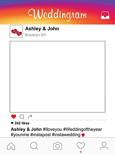 Amazoncom Customize Social Media Insta Weddingram Frame Photo