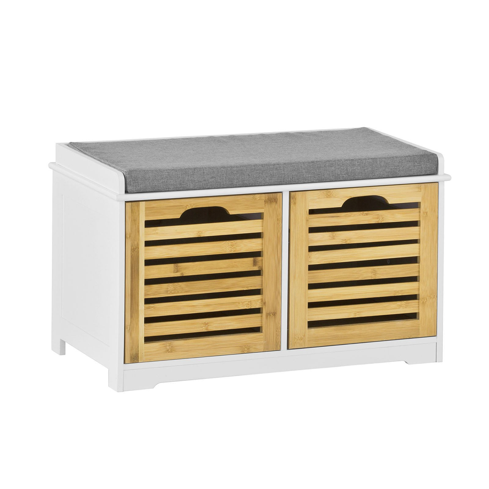 SoBuy Storage Bench 2 Drawers U0026 Seat Cushion, Shoe Cabinet Storage Unit  Bench, FSR23