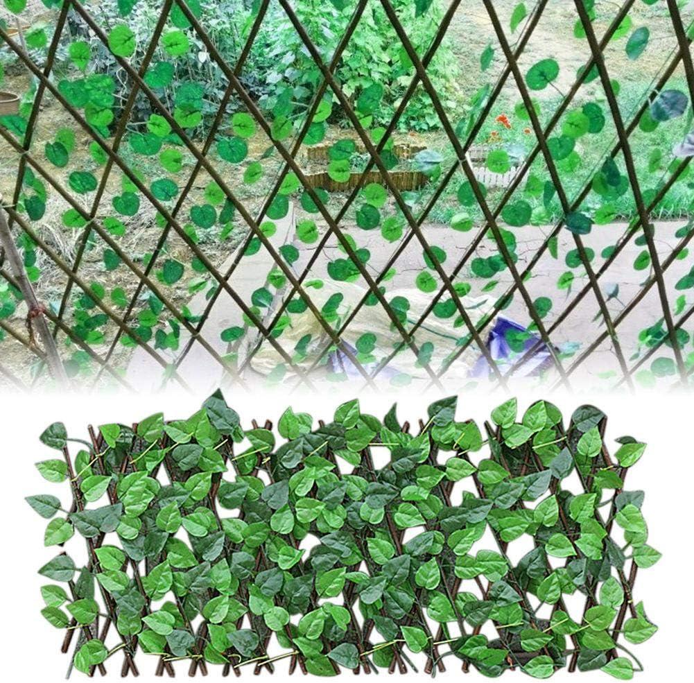Cl/ôture en Treillis Extensible Cl/ôture r/étractable Cl/ôture de Plante de Jardin Artificielle /Écran de confidentialit/é prot/ég/é Contre Les UV pour la d/écoration de Mariage de Feel-ling Cl/ôture
