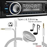 UNOOE Type-C Car Aux Cable Stereo Audio Cord with