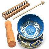 Tibetan Singing Bowl Set ~ Handmade Design ~ Meditation Chime (A)