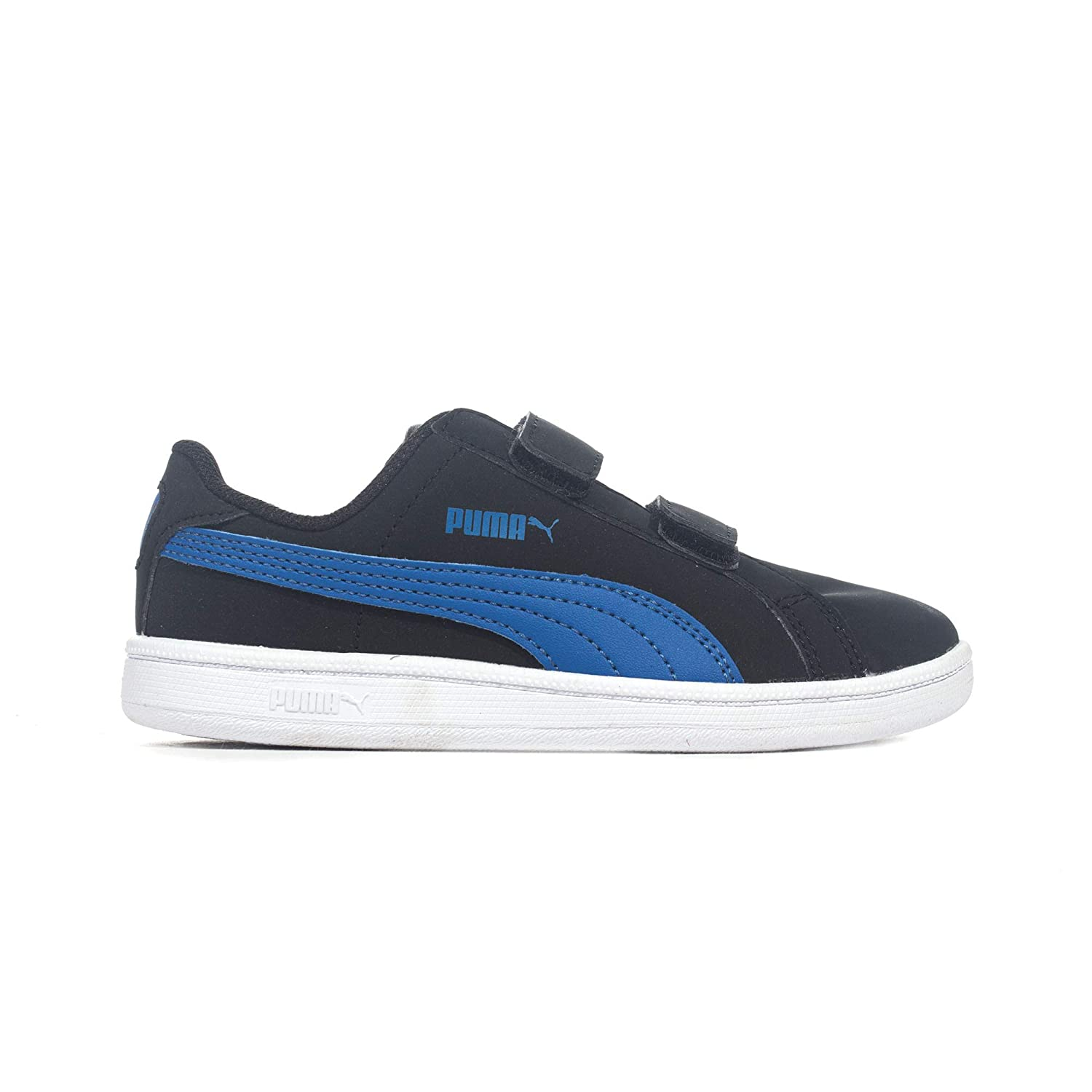 58368597067 Puma Smash Fun Junior Kids Nubuck Sports Shoe Black Blue - UK 11.5   Amazon.co.uk  Shoes   Bags