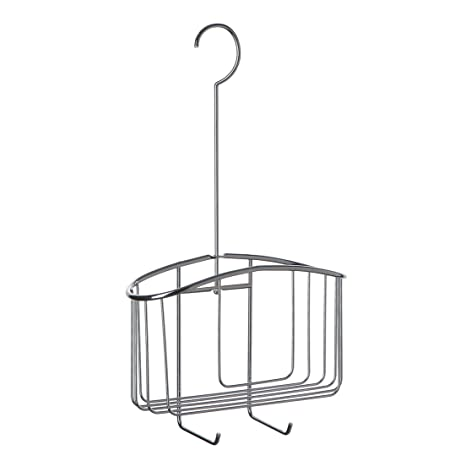 TATAY 4437100 - Cesta organizadora de Ducha con Colgador, Acero, 22.5x8.5x40 cm