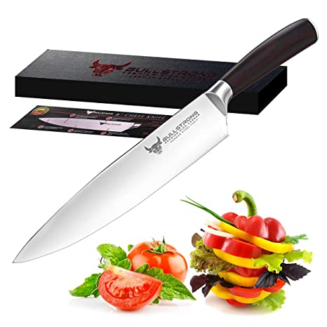 Chef Knife- 8 inch Professional High Carbon Stainless Steel Sharp Cutting & Cooking Kitchen Knife