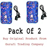 GTC (Tm) Electric Heat Bag Hot Water Bottle Pouch Massager Rectangle Shaped (Assorted Design & Color) (Pack Of 2)