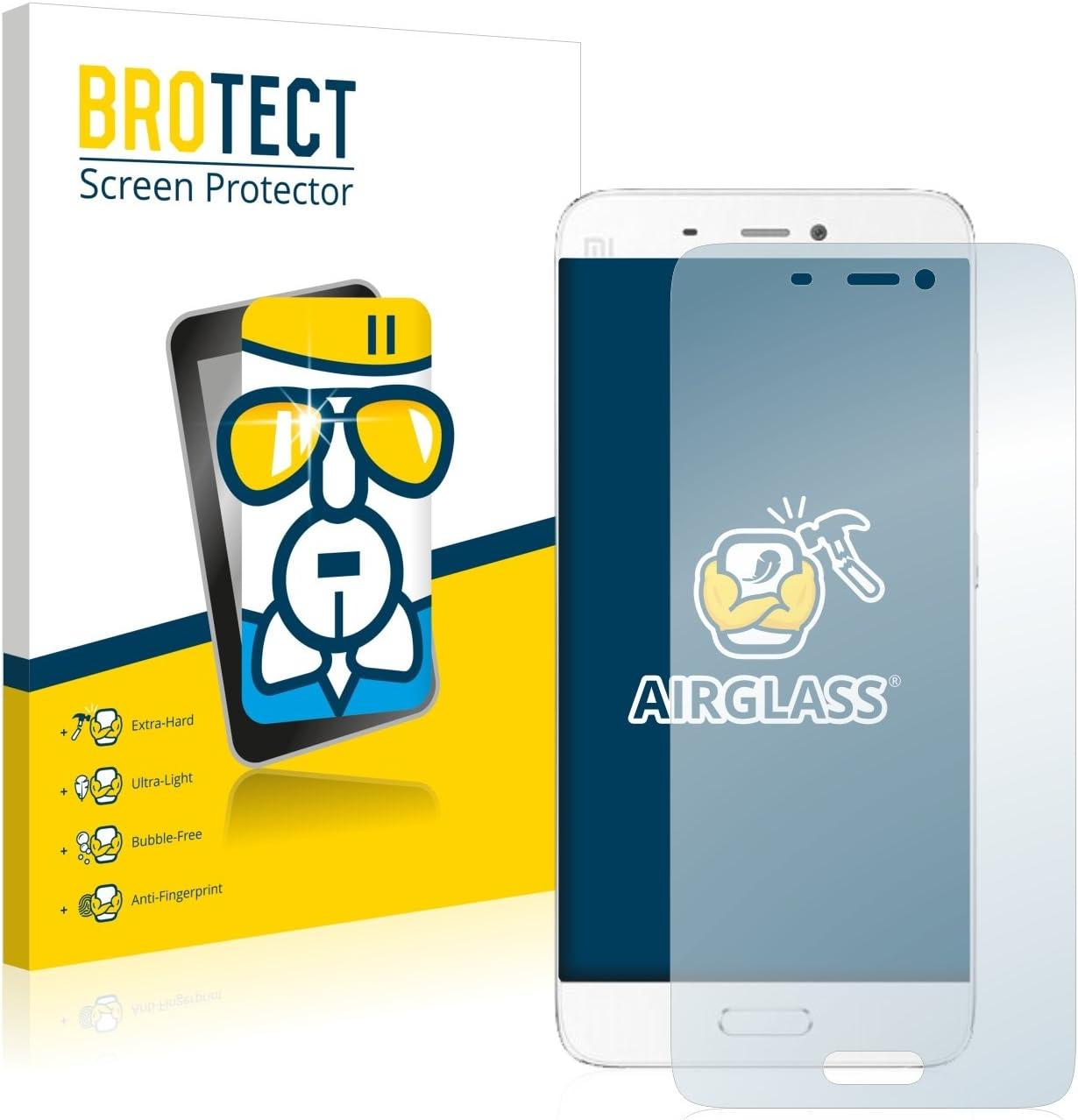 BROTECT Protector Pantalla Cristal Compatible con Xiaomi Mi5 Protector Pantalla Vidrio Dureza 9H AirGlass