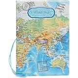 BAIGIO Cartera para pasaporte Tarjeta Cartera, Azul