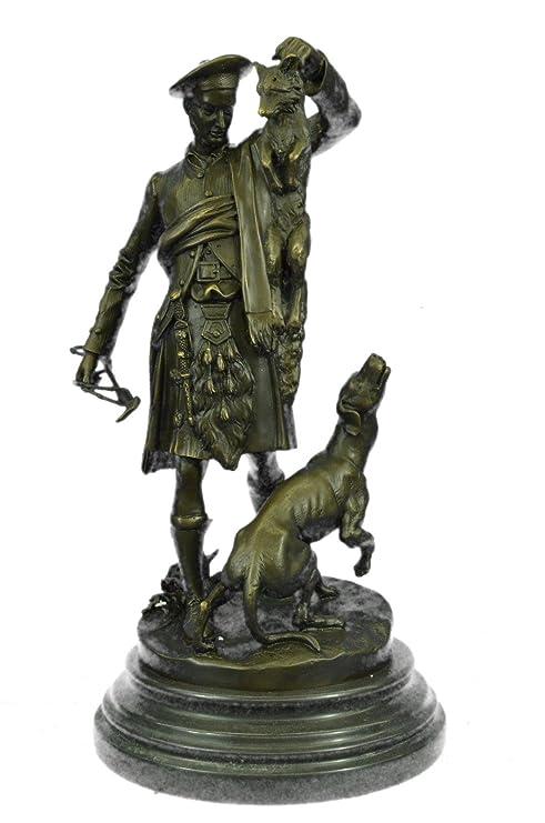 Handmade European Bronze Sculpture Chien Du St. Bernard by