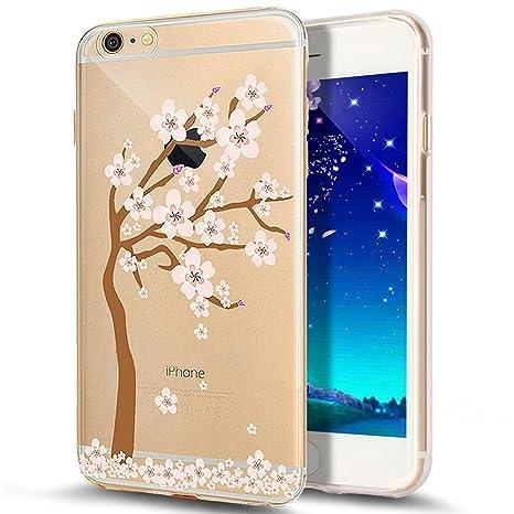 Funda iPhone 8 Plus, Carcasa iPhone 7 Plus, JAWSEU Apple iPhone 8 Plus/7 Plus 5.5 Carcasa Caso Transparente Purpurina llamativa Creativa Diseño Lujo ...