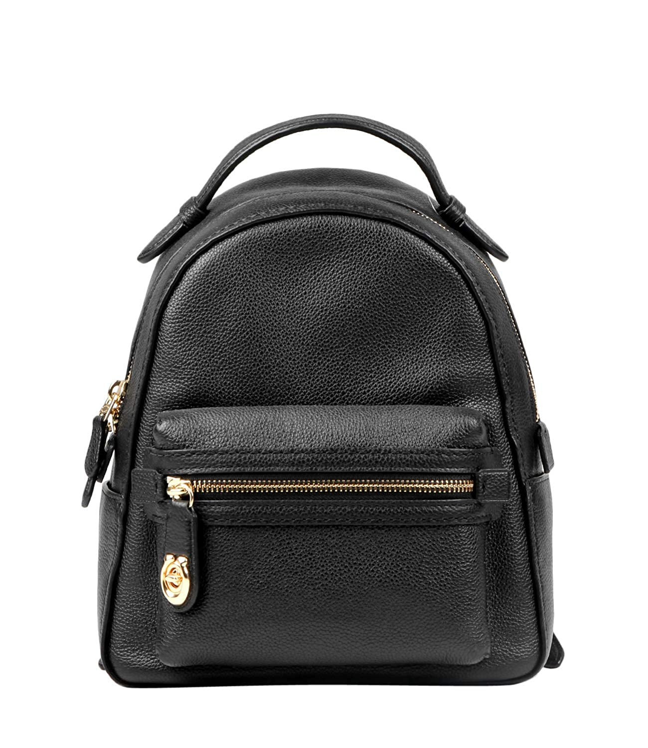 ff9cac0e8d77 Coach Campus 23 Pebbled Black Leather Backpack Black Leather  Amazon.co.uk   Shoes   Bags