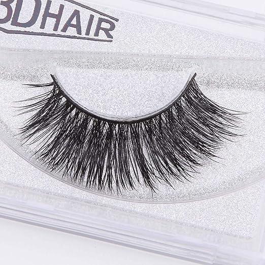 ef266ce5f26 Amazon.com : 3D Mink Handmade Soft Human Hair Black Long Cross Thick Curl  False Eyelashes Extension Pro Fake Eye Lashes : Beauty