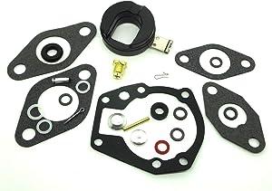 ConPus Carburetor Carb Repair Rebuild Kit with Float for Johnson/Evinrude 1.5 2 3 5 5.5 6 7.5 10 15 18 20 HP 439071 0439071 18-7043 383052 398532