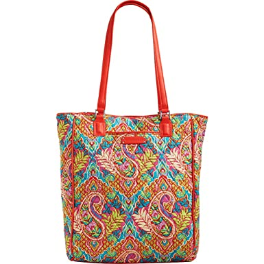 e7baed4dac Amazon.com  Vera Bradley Women s Crosstown Tote (Paisley in Paradise with  Red)  Shoes