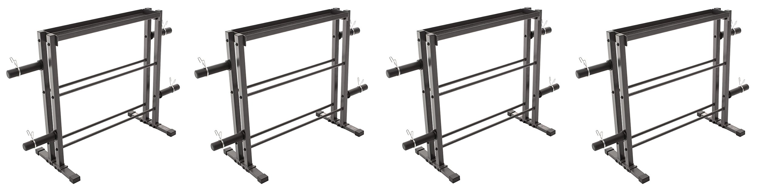 Marcy Combo Weights Storage Rack for Dumbbells, Kettlebells, and Weight Plates DBR-0117 (Pack of 4)