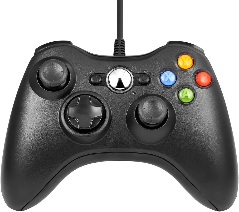 Game Controller for Xbox 360 - USB Gamepad for Microsoft Xbox 360 & Slim/PC Windows 7 8 10 - Ergonomic and Shoulders Buttons USB Gamepad - Ideal for All Gaming Sessions on Xbox and PC: Computers & Accessories