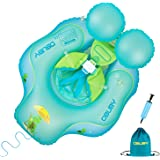 Obuby Baby Swimming Float Ring Inflatable Neck Pool Floats with Safe Bottom Support Children Waist Swim Water Toys…