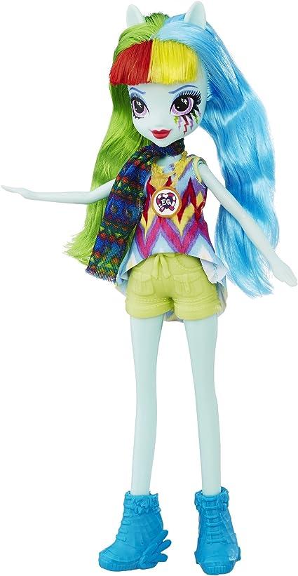 Amazon.com: My Little Pony Equestria Girls Legend Of Everfree Rainbow Dash  Doll: Toys & Games