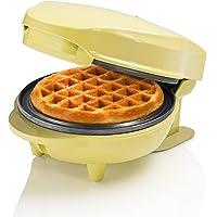 Bestron Mini-wafelijzer voor klassieke wafels, kleine wafelmaker met antiaanbaklaag, voor kinderverjaardagen…