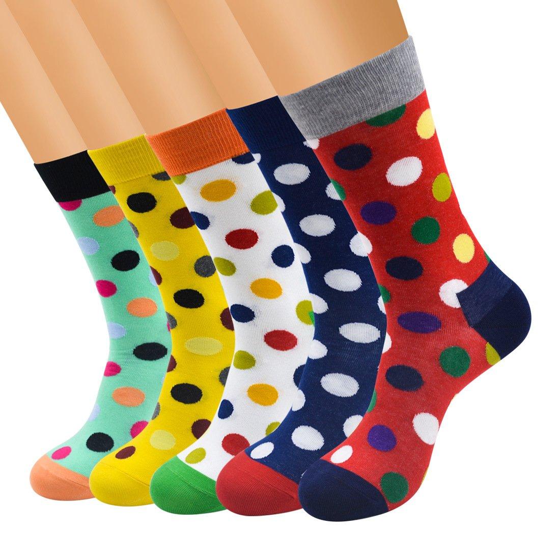 Women Slipper Socks 5 Pairs Winter Super Soft Cozy Warm Cute Casual Crew Socks (Style A-5 Pairs)