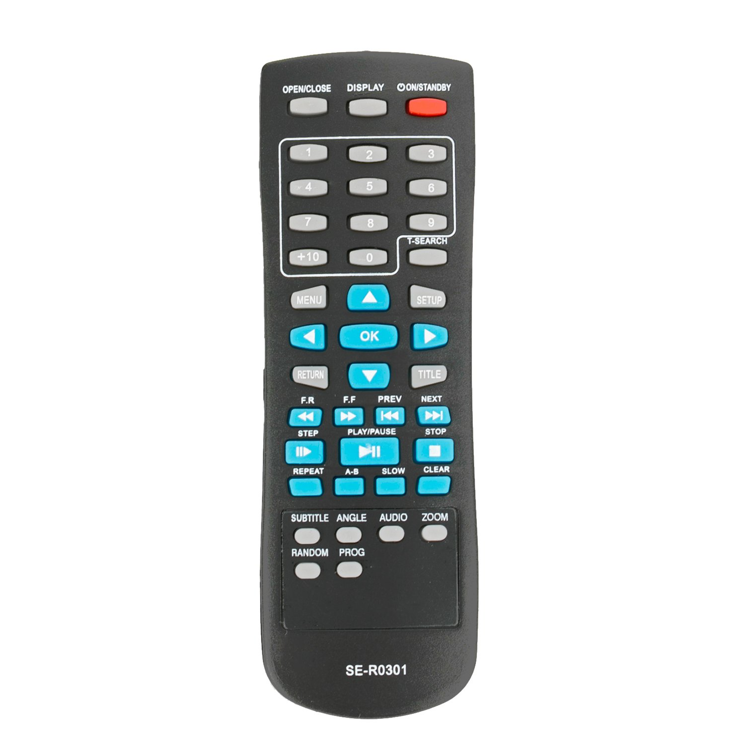 New SE-R0301 Replaced Remote fit for Toshiba DVD SD-4100 SD-4200 SD-4200KC SD-4200KU SD- K790KU SD-4300 SD-4300KU SD-K780KU SD-K780 SD-3300KU SD-3300 SD-690KY SD-590 SD-590KY SD-690KR by ZdalaMit (Image #1)