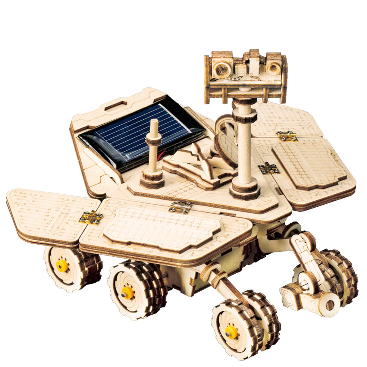 RoWood Space Hunting Vagabond Rover - DIY 3D Wooden Puzzle Model Solar Car Craft, Science Experiments Kit for Kids Ages 8+