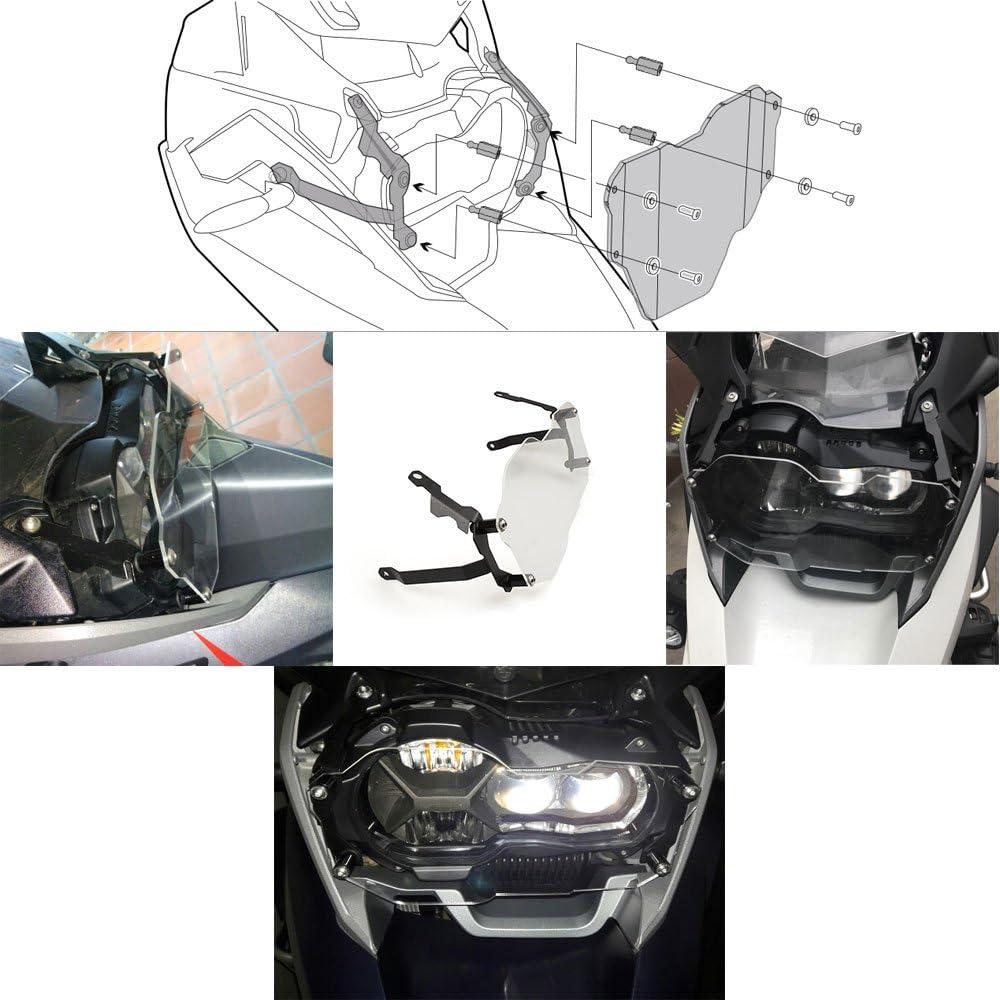 Transparent R1200GS Protector de Foco Delantero de Moto Protecci/ón de Debris Cubierta de Faro para BMW R1200GS LC ADV 2013 2014 2015 2016