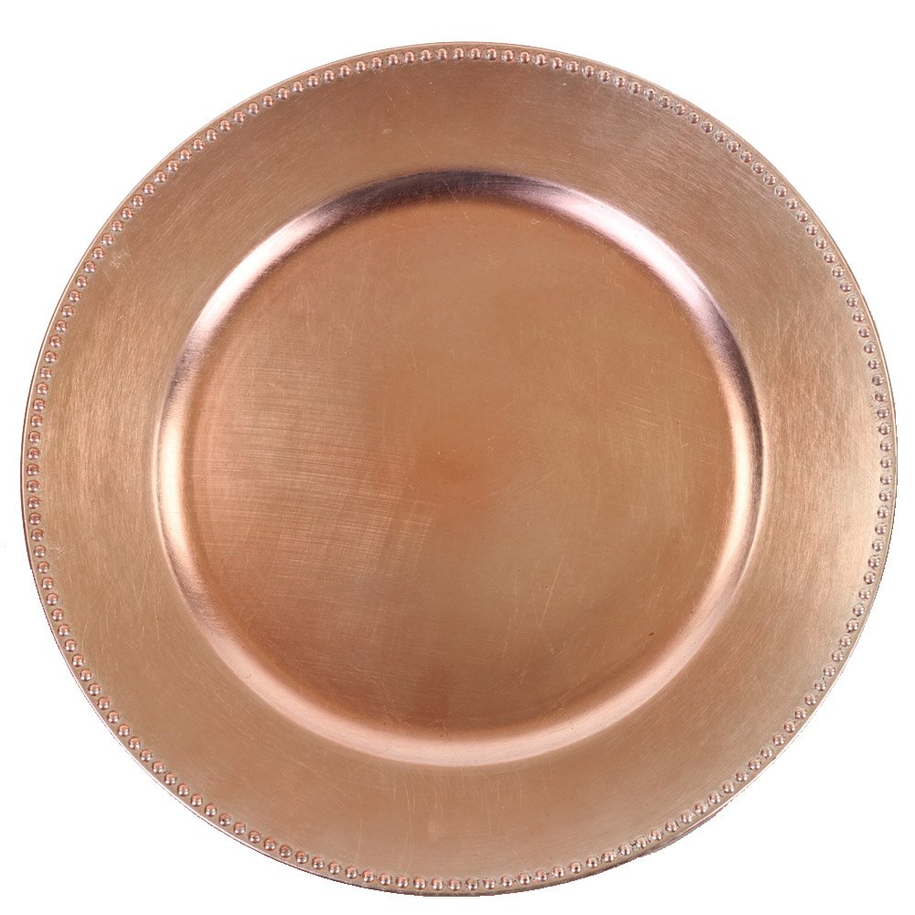 Koyal Wholesale Charger Plates, Rose Gold (Pack of 4)