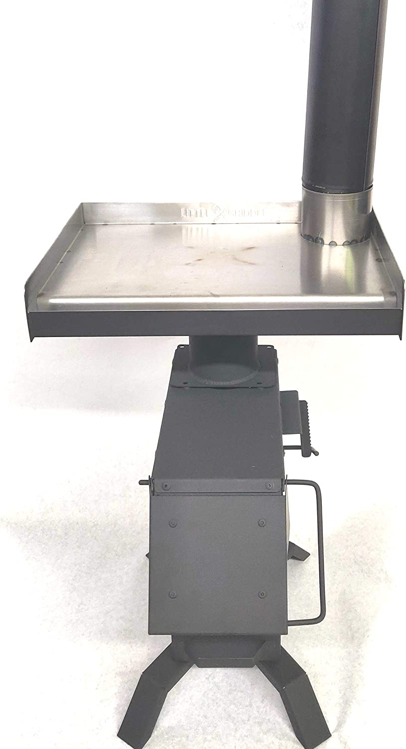 Bulletproof Griddle Me This Rocket Stove Adapter for Tent or Emergency Heating.