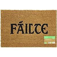 Failte Design Latex Backed Coir Entrance Door Mat, Brown, 40 x 60 cm