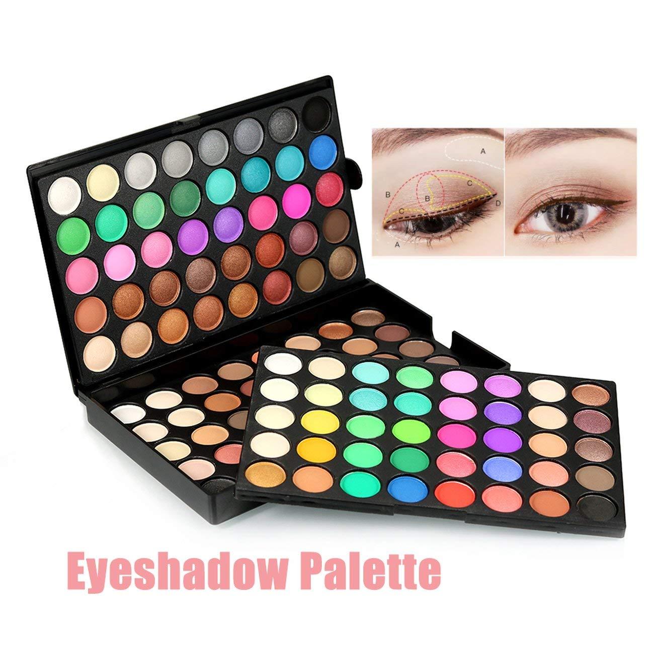 Fannty Outil cosm/étique de Maquillage de Palette Professionnelle l/ég/ère de Palette de Fard /à paupi/ères de 120 Couleurs
