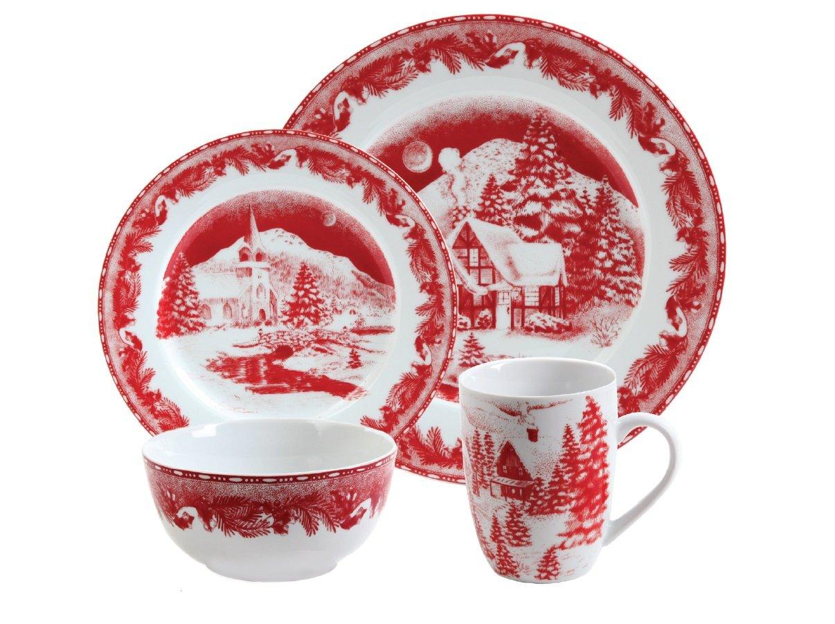 Gibson Winter Cottage Dinnerware Set