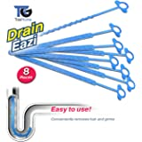 TasiHome Best Hygienic Disposable Hair Catcher And In-Drain Hair Collector For All Showers, Baths, Basins. Drain Eazi 8 Pack