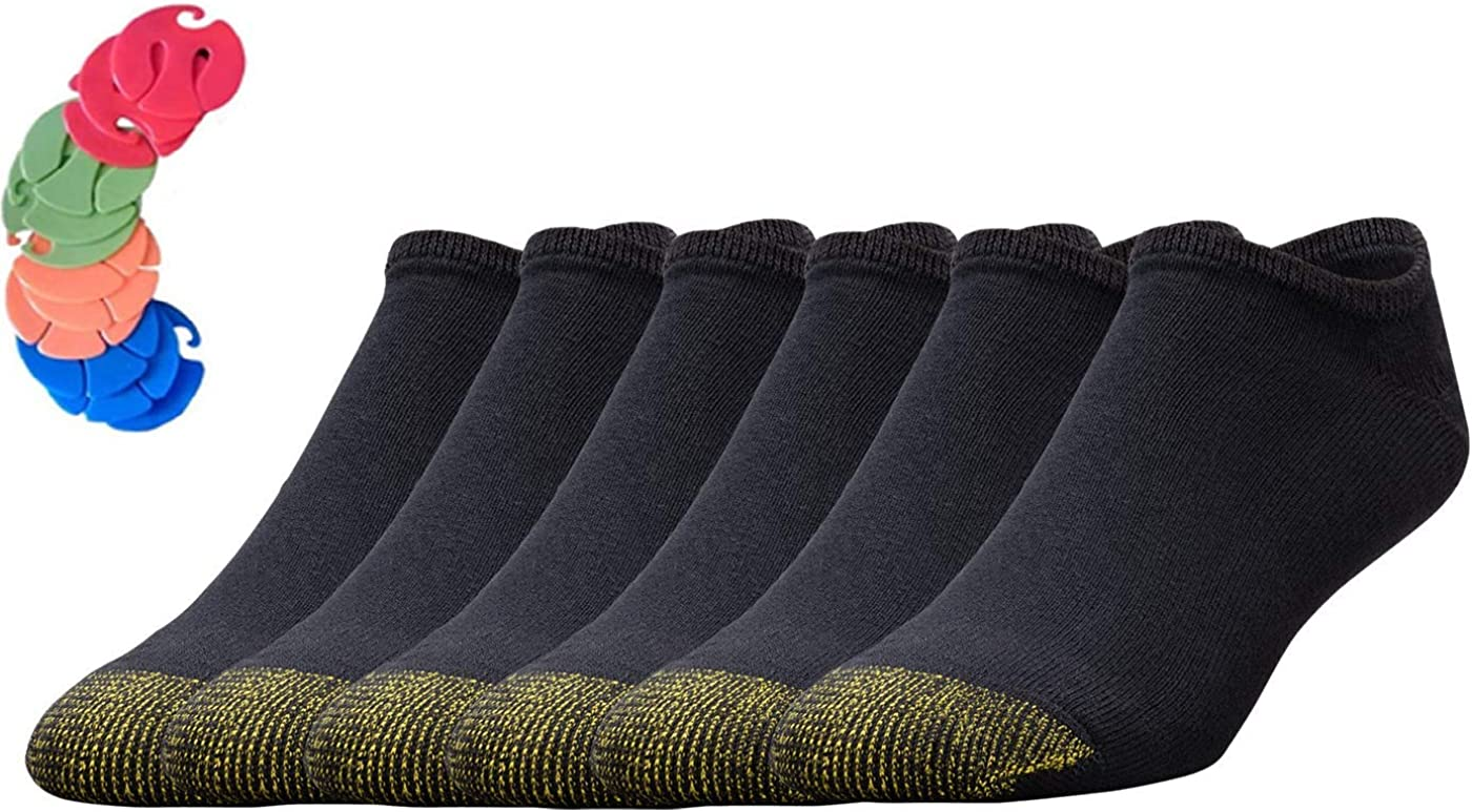 Gold Toe Men's Cotton Liner Athletic Sock 12-Pack / 12 Free Sock Clips Included