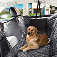 NAT-HOM Dog Seat Cover with View mesh, Pet Seat Cover Zipper Pockets Dog Car Seat Covers Cars, Trucks Suv's -Waterproof…