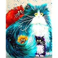 Kampo Painting By Numbers for Kids Adults, Canvas DIY Oil Painting Kit with Brushes and Acrylic Pigment for Home…
