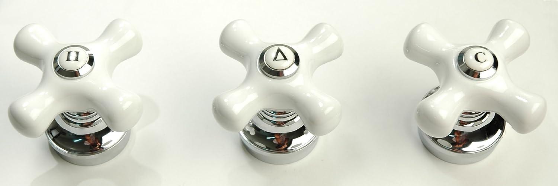 Porcelain Handle 3-pcs Set, Chrome Finish, Fits Price Pfister ...