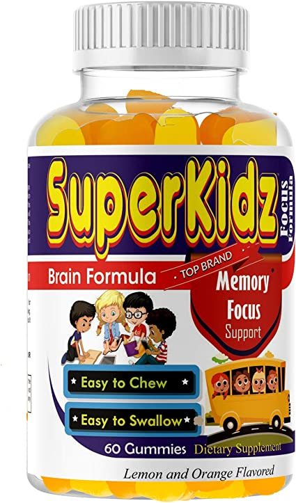 Amazon Com Kids Brain Focus Great Taste Chewable Gummies Attention Memory Help Formula For Children And Teens Best Natural Omega 3 6 9 Dha For Kids Supplement Calming Mutlivitamins School Study Task Support Health
