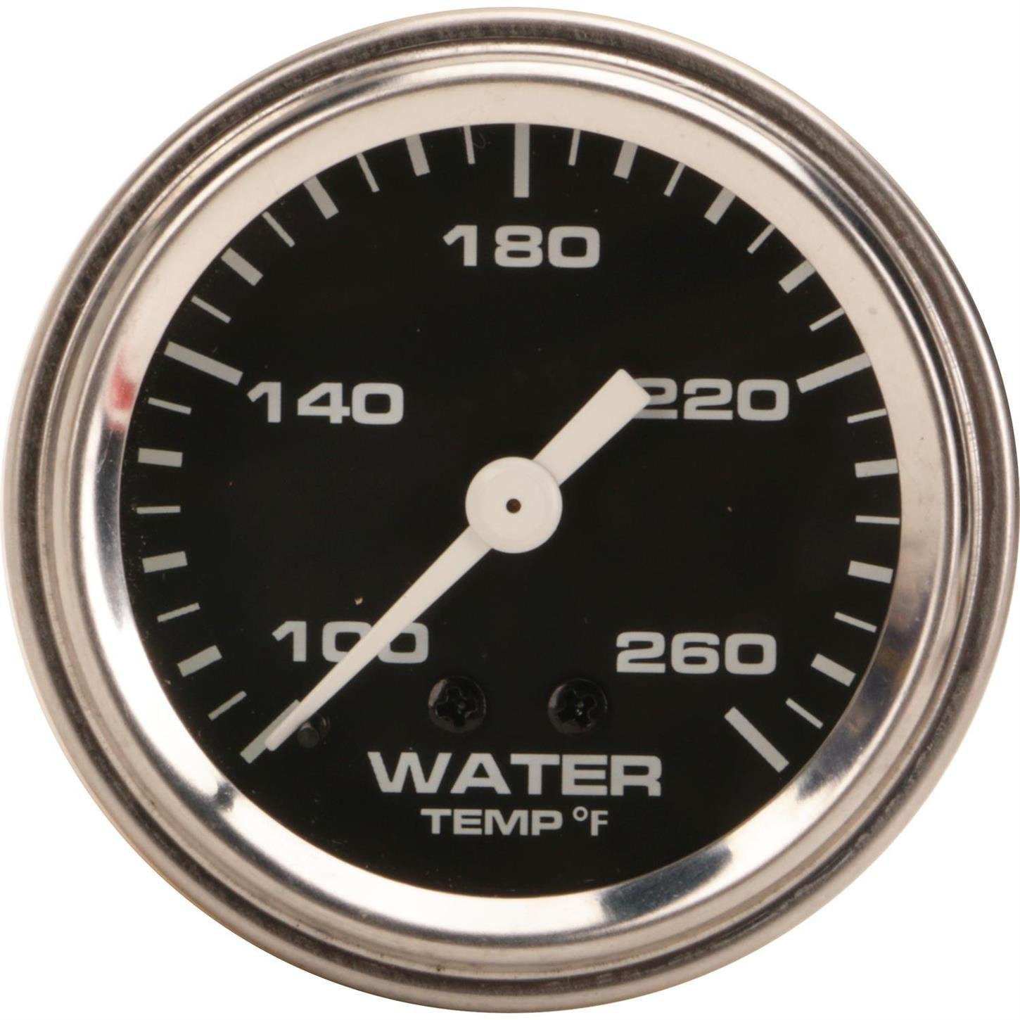 Mechanical Water Temperature Gauge, 2-1/16 Inch, Black by Speedway Motors