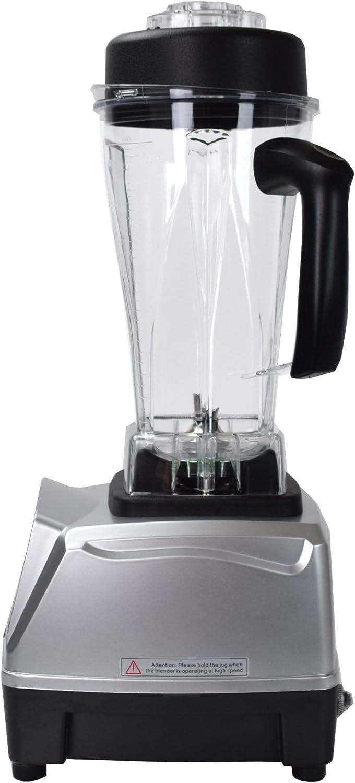 7 programas picadora 40000 U//min molinillo de cereales batidora de alto rendimiento 6 cuchillas de acero inoxidable 1500 W Syntrox Germany Batidora de vaso digital pantalla LCD 2 litros