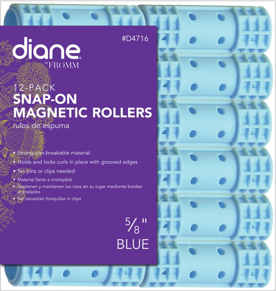 Diane Snap-on Magnetic Rollers, Pink, 1-1/8, 8/bag 1-1/8 D4719