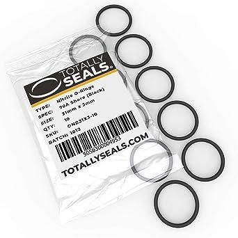anillas de goma de nitrilo 70A dureza de la orilla 28 mm x 3,5 mm Elija el tama/ño del paquete 35 mm de di/ámetro