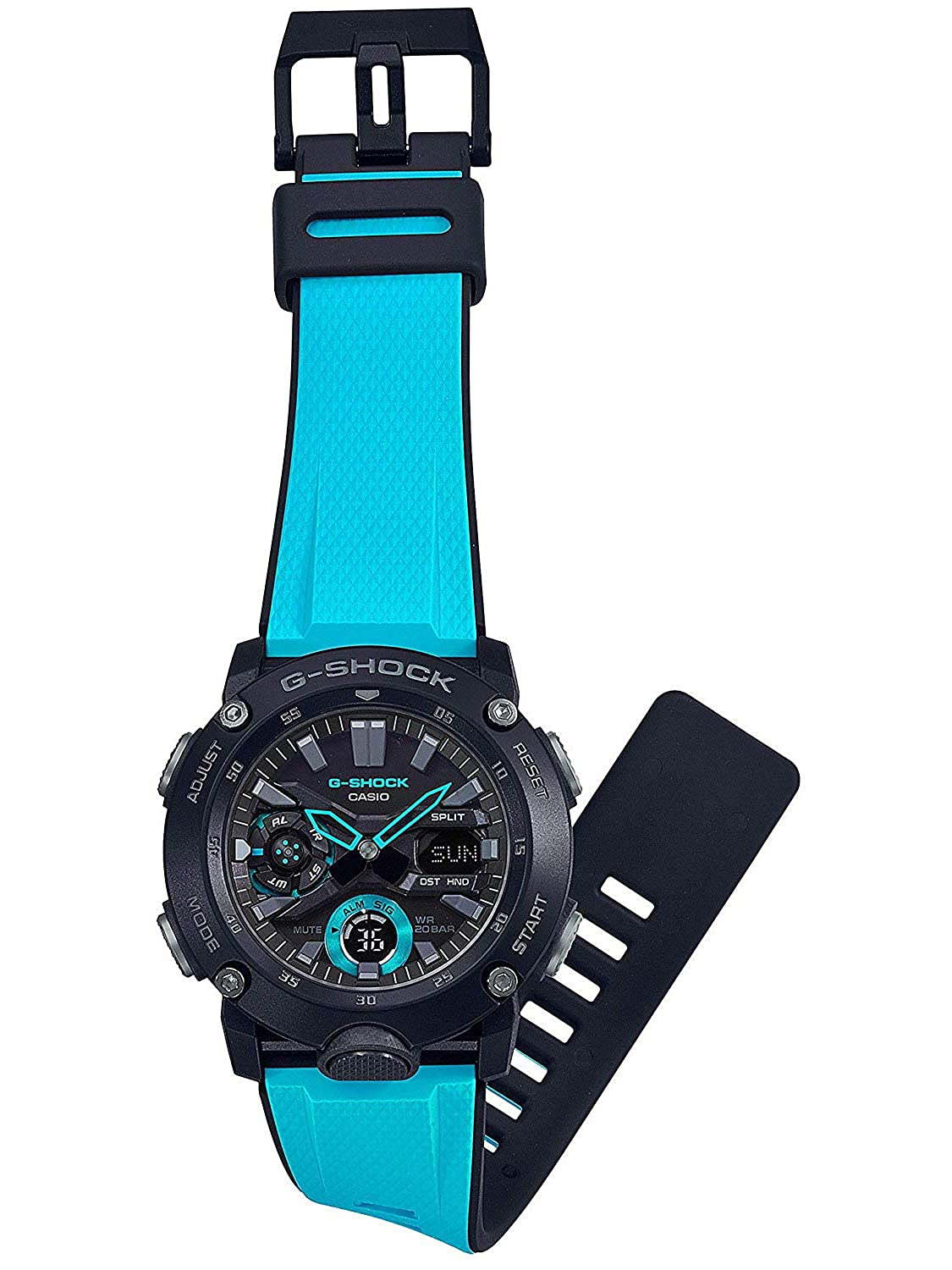 Amazon.com: Casio G-Shock Carbon Core Blue Resin Band Watch ...