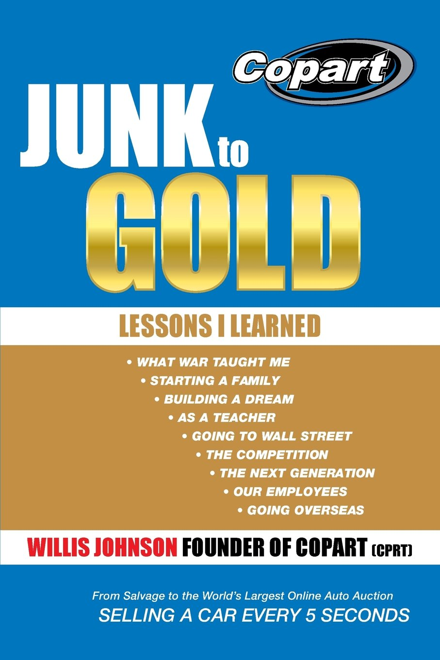 junk to gold from salvage to the worlds largest online auto auction willis johnson 9781490816579 amazoncom books - Garden Spot Auto Auction