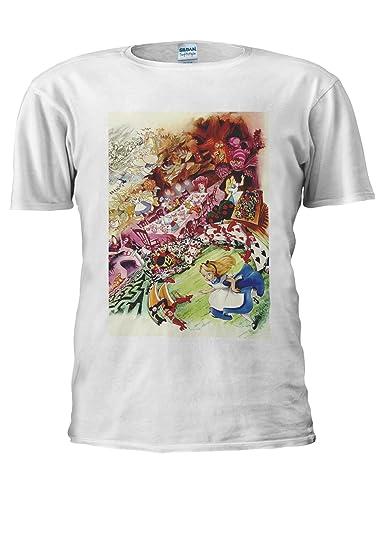 a1bdc817 Alice in Wonderland Cartoon Anime Men Women Unisex Top T Shirt | Amazon.com