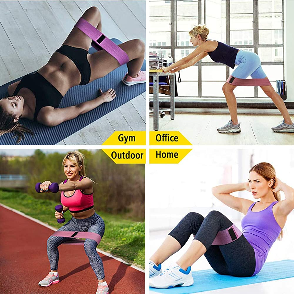 Cealu Yoga Resistance Bands Non Slip Stretch Strap for Legs and Butt Fitness Training Stretch Sport Tools