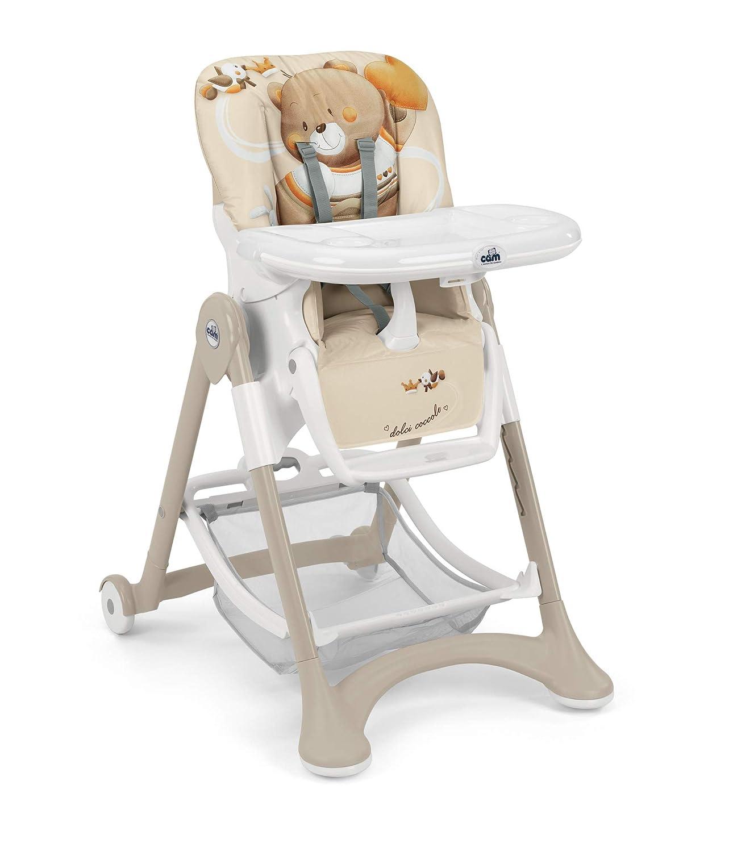 Made in Italy Tablett Abwaschbares Kissen Kinder-Hochsitz Weiche Polsterung /& verstellbarer Gurt B/ärchen Hochstuhl Campione Baby-Stuhl michwachsend /& vielseitig verstellbar inkl